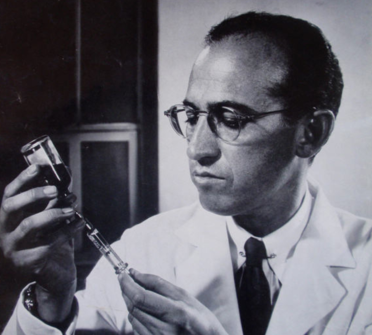 When Jonas Salk, inventor of